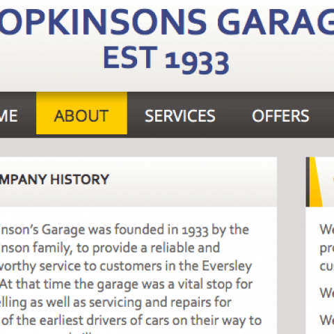 Hopkinsons Website Screenshot3