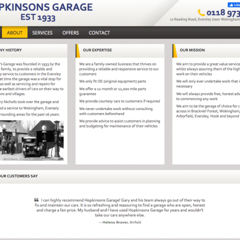 Hopkinsons Website Screenshot4
